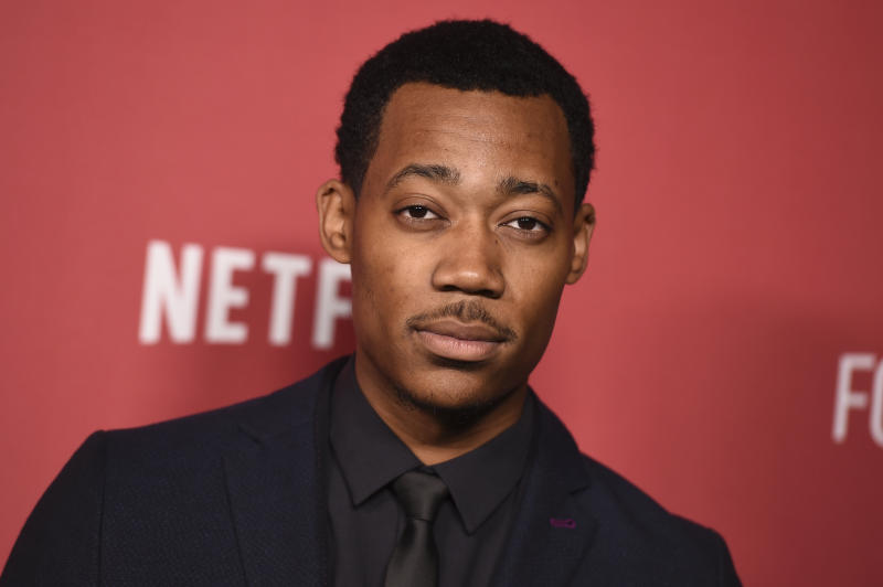 Tyler James Williams arrives at the 2017 Patron of the Artists Awards at the Wallis Annenberg Center for the Performing Arts on Thursday, Nov. 9, 2017 in Beverly Hills, Calif. (Photo by Jordan Strauss/Invision/AP)