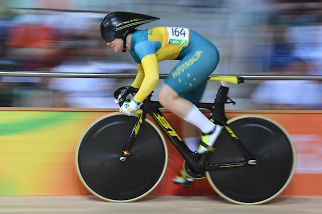 Australia's Anna Meares competes in the women's sprint qualifying track cycling event at the Rio Olympics in August (AFP Photo/Greg Baker)