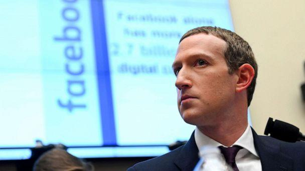 PHOTO: Facebook Chairman and CEO Mark Zuckerberg testifies at a House Financial Services Committee hearing in Washington, Oct. 23, 2019. (Erin Scott/Reuters, FILE)