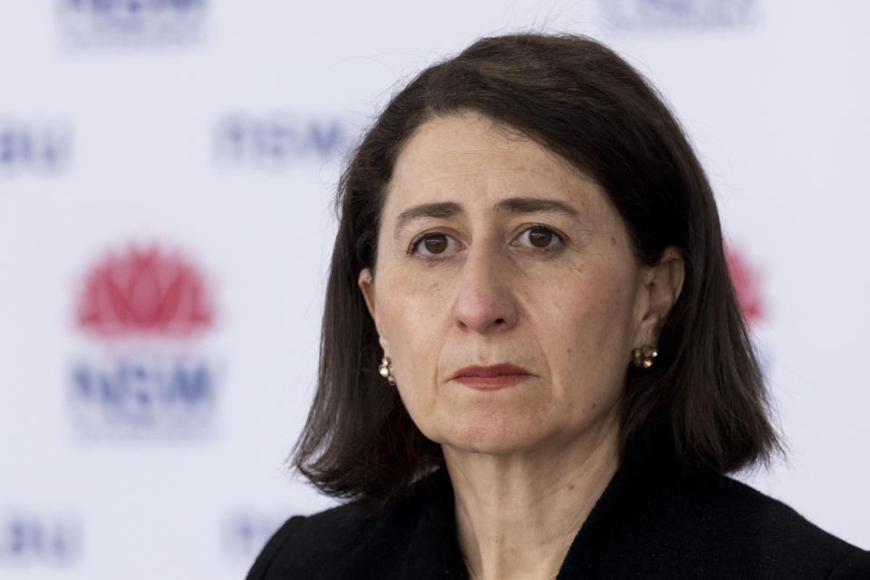 Premier Gladys Berejiklian continues to call on residents to come forward for their vaccine after setting a six-million dose target for the end of August. Source: Getty