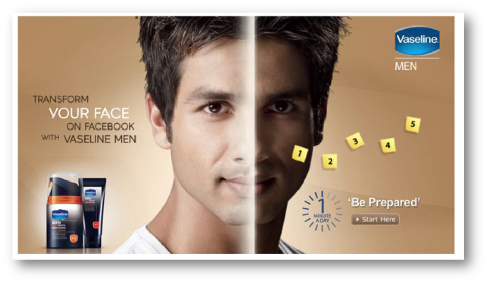 The second actor to jump on the fairness ad bandwagon after SRK, Shahid Kapoor featured in an ad which was very in your face. In the Vaseline men's ad, Shahid Kapoor's face has two tones on it – one which is dark, and another one which glows white, apparently after using the cream.