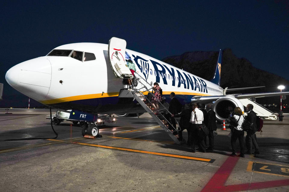 Ryanair's traffic is likely to take a further hit in November, with the a second lockdown that bans non-essential travel. Photo: Andrew Medichini/AP