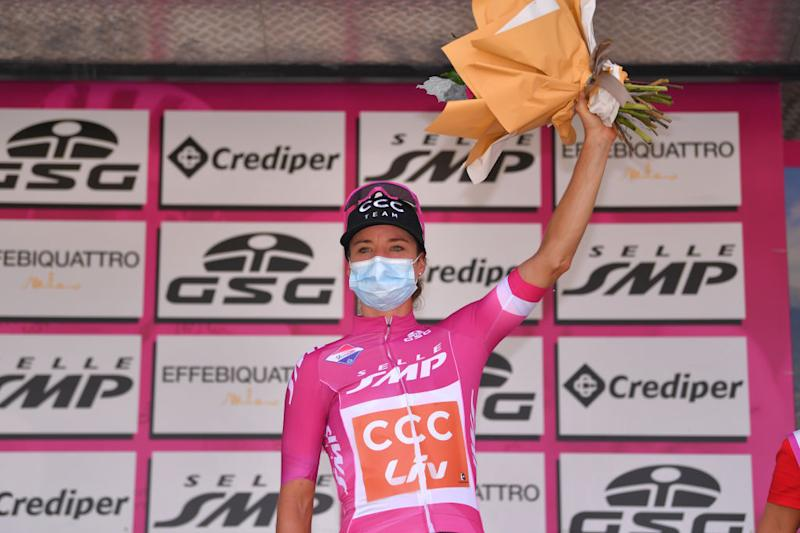 Marianne Vos and CCC-Liv at stage 6 of the Giro Rosa