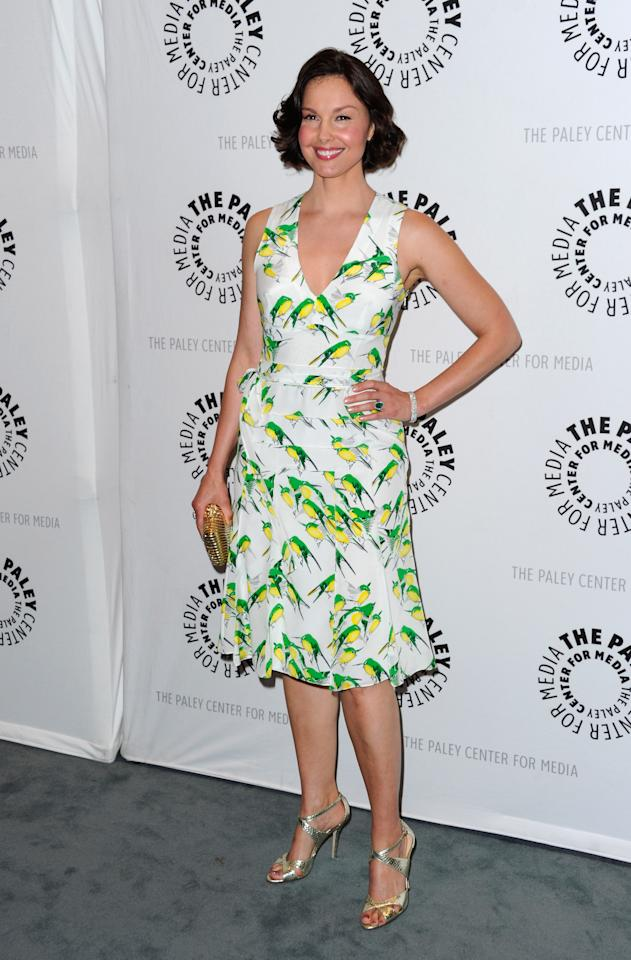 "BEVERLY HILLS, CA - APRIL 10:  Actress Ashley Judd arrives to The Paley Center for Media presents A Screening of ABC's ""Missing"" at The Paley Center for Media on April 10, 2012 in Beverly Hills, California.  (Photo by Alberto E. Rodriguez/Getty Images)"