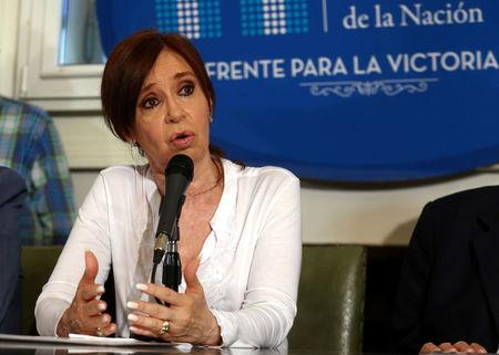 Former Argentine President and Senator Cristina Fernandez de Kirchner speaks during a news conference at the Congress in Buenos Aires, December 7, 2017. REUTERS/Marcos Brindicci