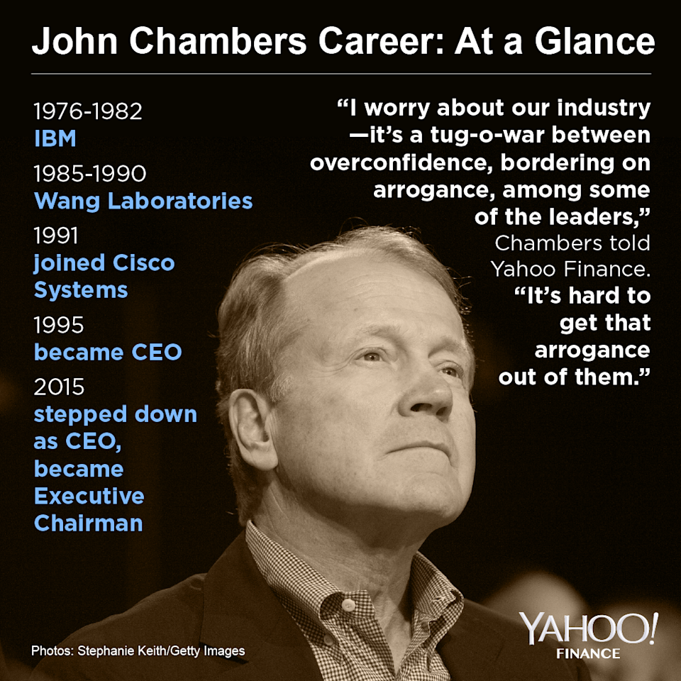 Former Cisco CEO John Chambers offers some advice for the tech leaders of today in an interview with Yahoo Finance.