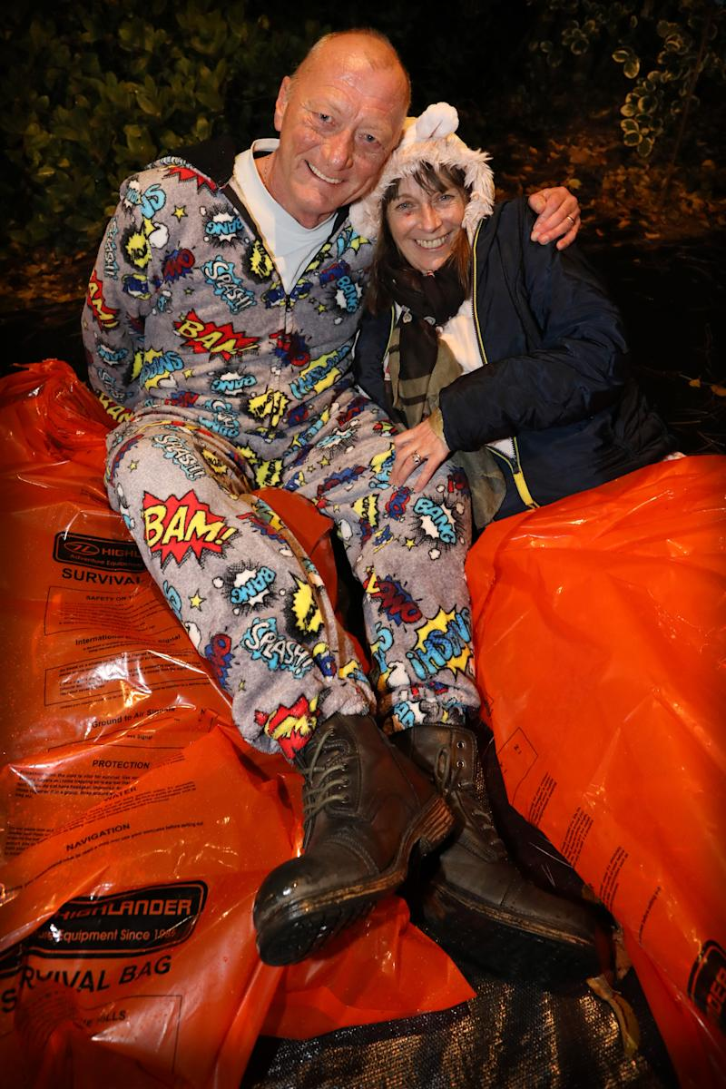 Participants in the World's Big Sleep Out in Edinburgh