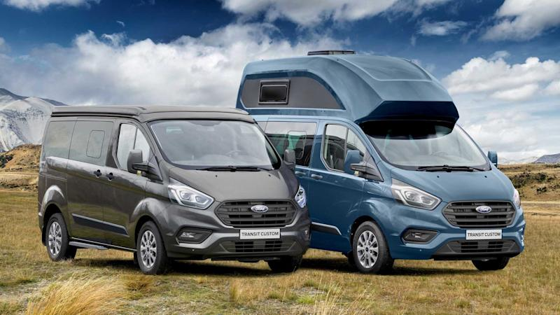 ford transit custom nugget camper van revealed. Black Bedroom Furniture Sets. Home Design Ideas