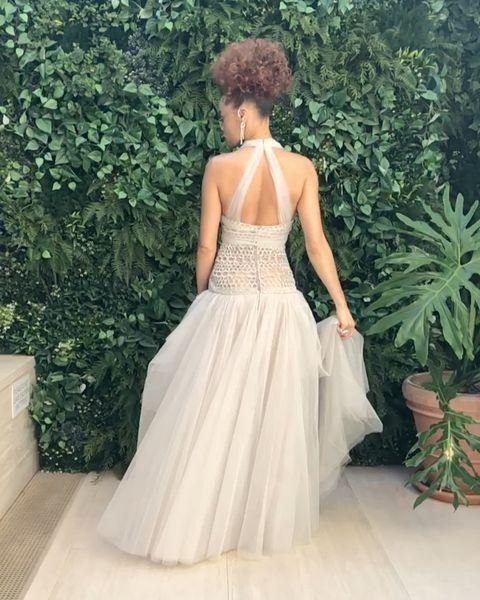 """<p>The Golden Globe winner's slow-mo twirl in Chanel couture was everything.</p><p><a href=""""https://www.instagram.com/p/CL3Evmpgbbp/"""" rel=""""nofollow noopener"""" target=""""_blank"""" data-ylk=""""slk:See the original post on Instagram"""" class=""""link rapid-noclick-resp"""">See the original post on Instagram</a></p>"""