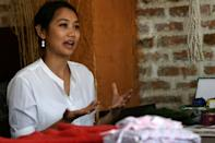After a decade in international development, Lorina Sthapit set up Aji's ('Grandmother') with her sister and husband and how has 30 elderly women and men working with them using traditional Nepali techniques and materials
