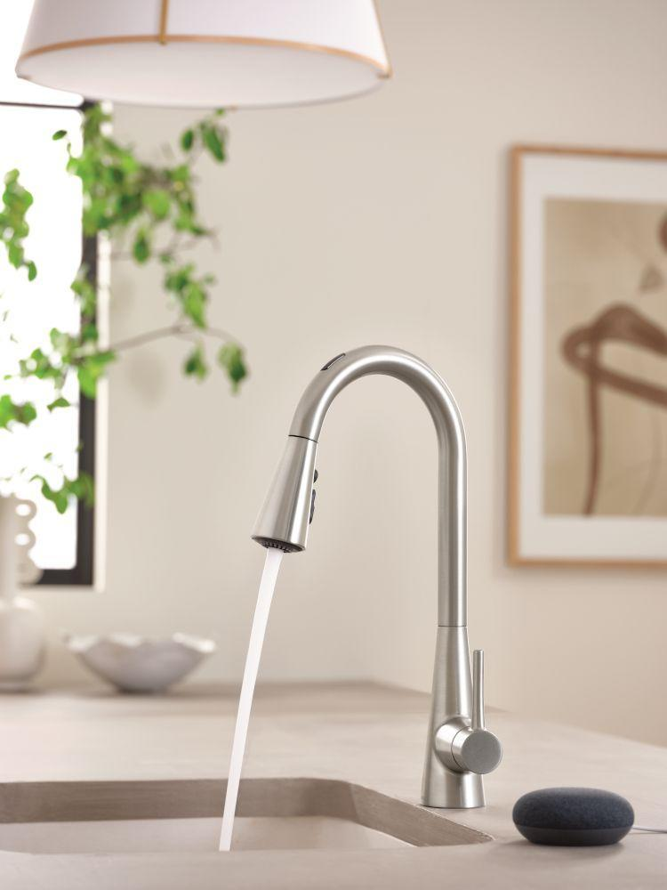 "<p>A smart faucet is just one of those things you don't know will improve your life until you see it in action, and U By Moen's new smart faucet is top-of-the-line. The faucet can be controlled through voice activation, a touchless sensor, or its handle. From filling your coffee pot to pouring out a specific number of ounces, you can control the temperature and amount of water you need with a simple command. Even better? The faucet also offers a 20-second hand-washing function, which is pretty invaluable these days. </p><p><strong>Date available:</strong> Now </p><p><a class=""link rapid-noclick-resp"" href=""https://www.moen.com/whats-new/innovation/u"" rel=""nofollow noopener"" target=""_blank"" data-ylk=""slk:Shop it here"">Shop it here</a></p>"