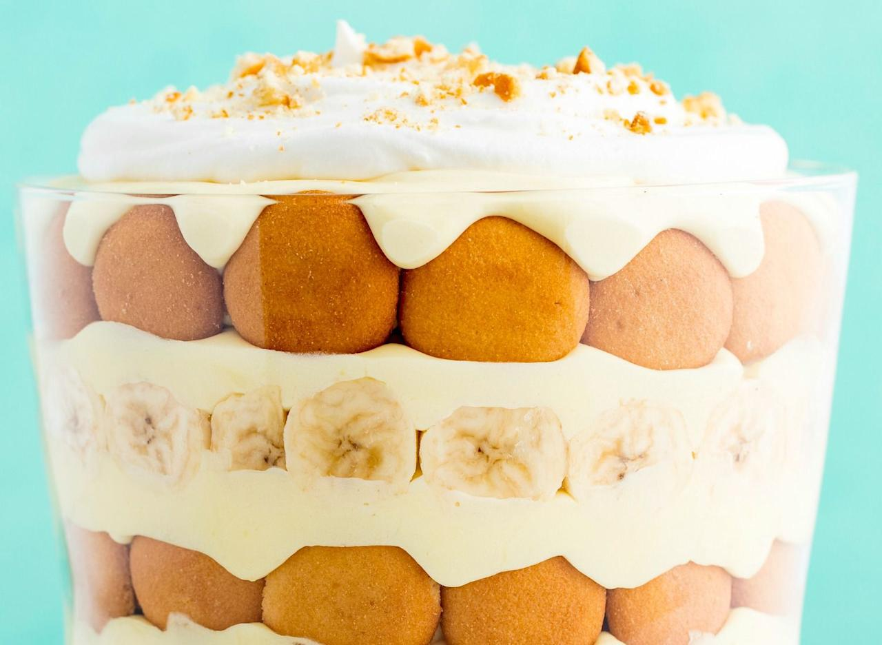 """<p>Your holiday table needs something show-stopping this year. Trifles are easy to make, but look <em>so</em> beautiful - plus, with flavor combos like cookie dough, s'mores, and peanut butter banana pudding, the whole table will be going in for seconds. Want more <a rel=""""nofollow"""">holiday dessert recipes</a> that'll impress? Try these <a rel=""""nofollow"""" href=""""http://www.delish.com/holiday-recipes/christmas/g2177/easy-christmas-cookies/"""">fancy-schmancy Christmas cookies</a>.</p>"""