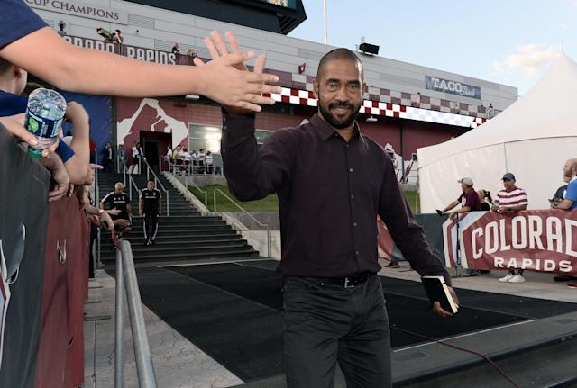 New Colorado Rapids coach Robin Fraser is off to a 3-0 start. (Ron Chenoy/USA Today)