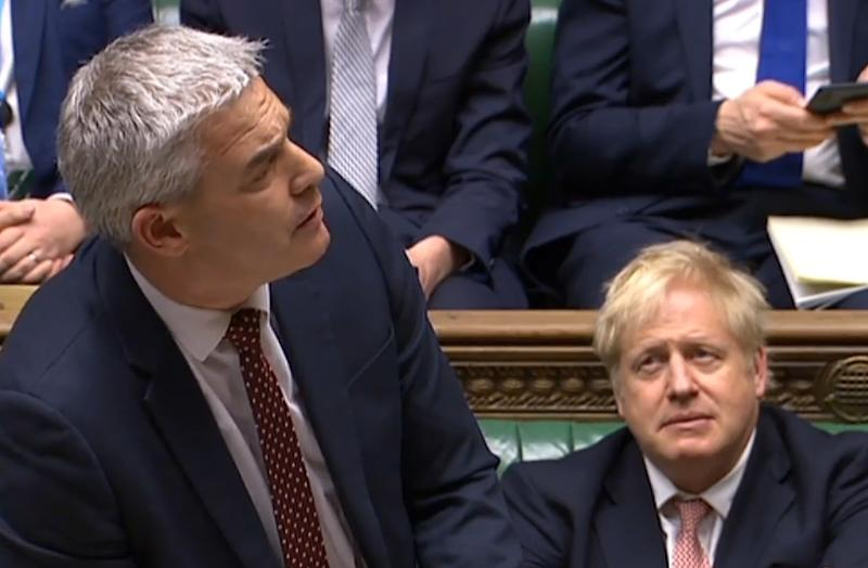 Stephen Barclay speaking during the conclusion of proceedings of the European Union Withdrawal Agreement Bill (PRU/AFP via Getty Images)