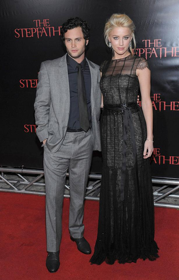 """<a href=""""http://movies.yahoo.com/movie/contributor/1807880535"""">Penn Badgley</a> and <a href=""""http://movies.yahoo.com/movie/contributor/1809059761"""">Amber Heard</a> at the New York City premiere of <a href=""""http://movies.yahoo.com/movie/1810001213/info"""">The Stepfather</a> - 10/12/2009"""
