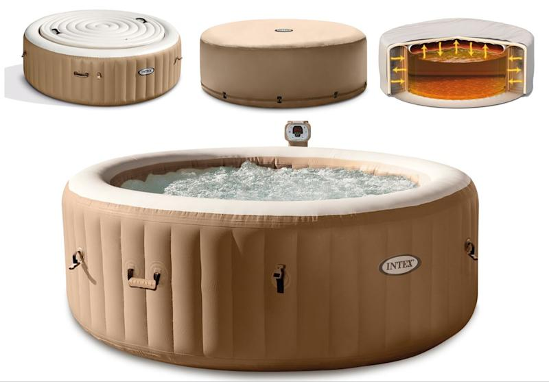 Intex 4 Person Hot Tub Spa with Energy Efficient Cover (Credit: Walmart)