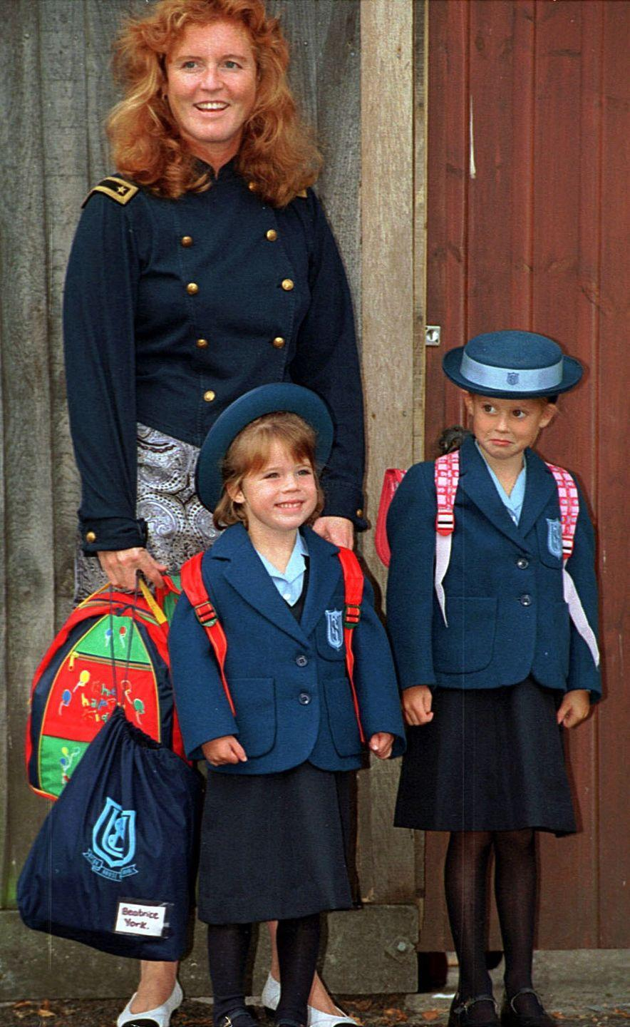 <p>Looking adorable in their Upton House School uniforms for their first day of school photo. </p>