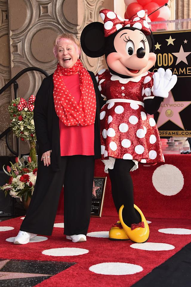 <strong>Russi Taylor (1944-2019)</strong><br>Russi voiced&nbsp;Disney&nbsp;character Minnie Mouse for more than 30 years.&nbsp;Through the role, Russi found her real-life Mickey in the form of Wayne Allwine, who had voiced Mickey Mouse since 1977.