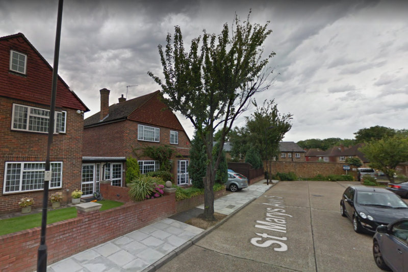 A file image of St Mary's Avenue, which police officers were called to Saturday night: Google Street View