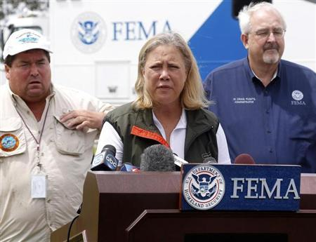 U.S. Senator Mary Landrieu (D-LA) speaks during a news conference after Hurricane Isaac in Belle Chasse, Louisiana
