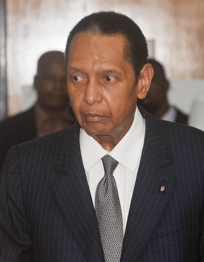 """Late Haitian president Jean-Claude """"Baby Doc"""" Duvalier, pictured in February 2013 at a Port-au-Prince court (AFP Photo/Thony Belizaire)"""