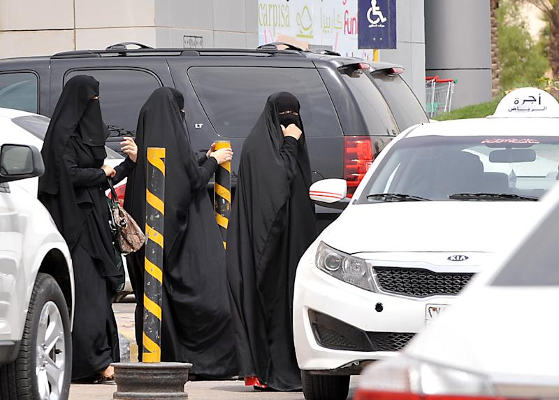Saudi women are required to cover up from head to toe, often with only their eyes exposed