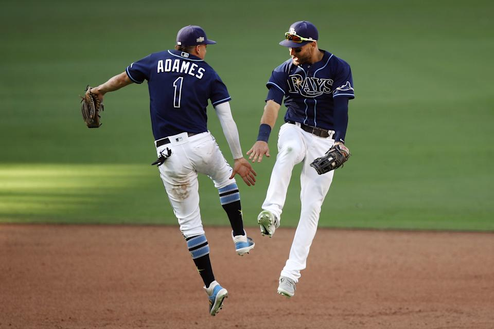 The Tampa Bay Rays woke up Tuesday morning as the favorite to win the World Series. (Photo by Ezra Shaw/Getty Images)
