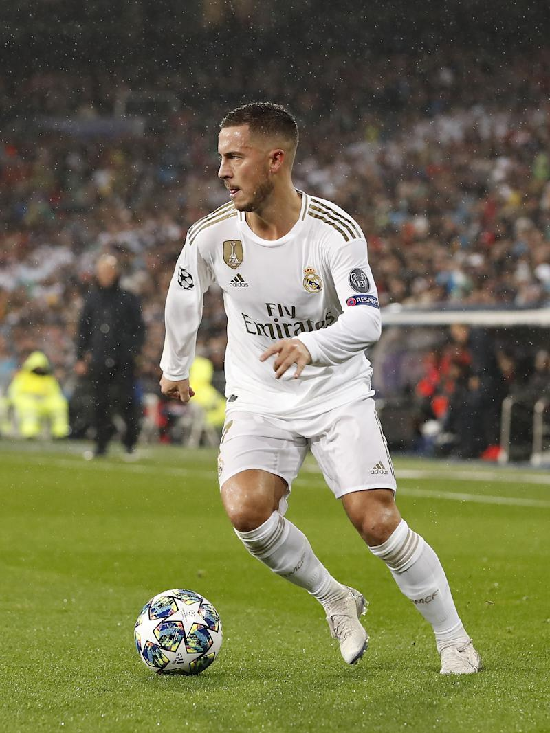 Eden Hazard of Real Madrid during the UEFA Champions League group A match between Real Madrid and Paris Saint-Germain at the Santiago Bernabeu stadium on November 26, 2019 in Madrid, Spain(Photo by ANP Sport via Getty Images)