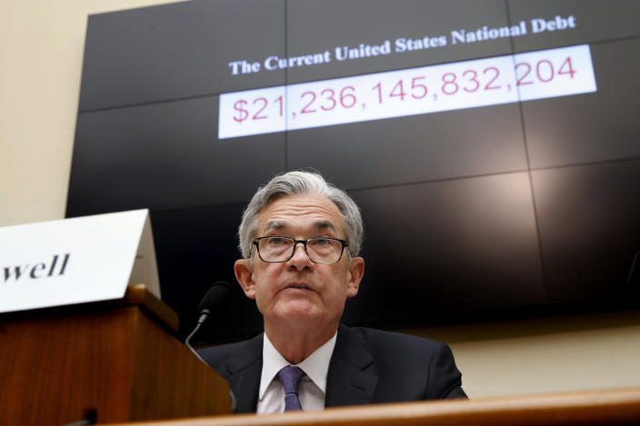 Federal Reserve Board Chair Jerome Powell testifies during a House Committee on Financial Services hearing on July 18, 2018, in Washington. (Photo: Jacquelyn Martin/AP)