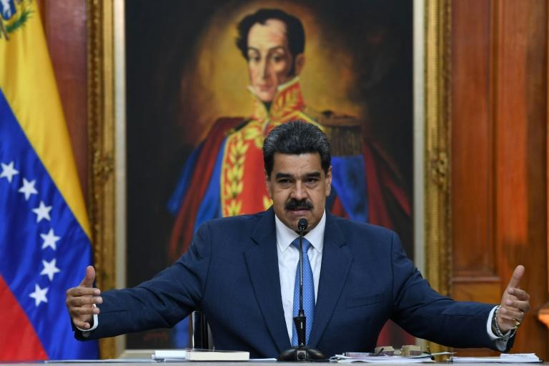 Venezuela's President Nicolas Maduro has remained in power despite US sanctions and diplomatic pressure (AFP Photo/YURI CORTEZ)