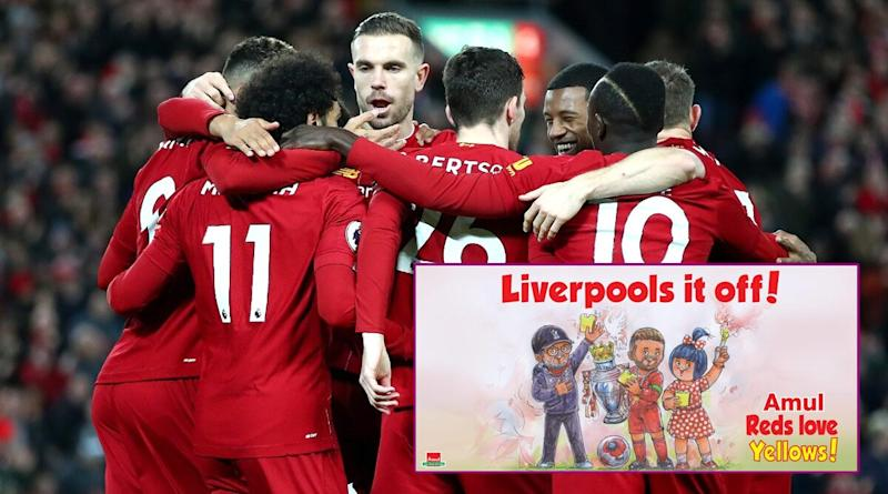 Amul Celebrates Liverpool's First-Ever Premier League Title With Latest Topical Ad