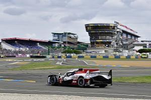 Jose Maria Lopez spun the #7 Toyota TS050 Hybrid as he chased down Fernando Alonso's lead of the Le Mans 24 Hours just before the end of the 21st hour