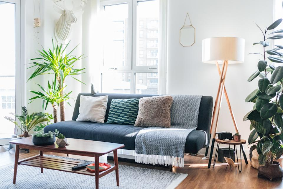 A modern, stylish and bright living room
