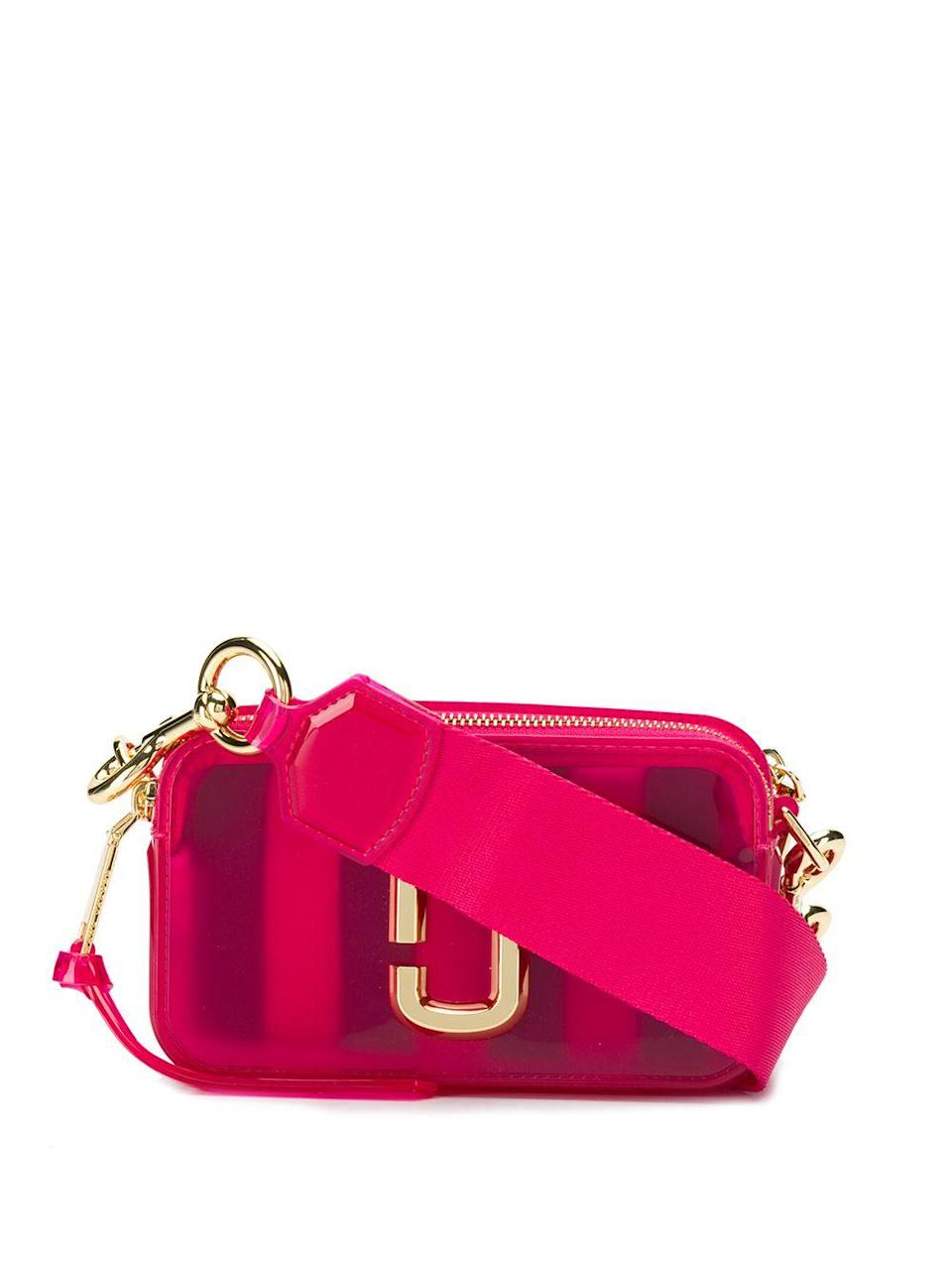 "<br><br><strong>Marc Jacobs</strong> The Jelly Snapshot camera bag, $, available at <a href=""https://go.skimresources.com/?id=30283X879131&url=https%3A%2F%2Fwww.farfetch.com%2Fshopping%2Fwomen%2Fmarc-jacobs-the-jelly-snapshot-camera-bag-item-14156911.aspx"" rel=""nofollow noopener"" target=""_blank"" data-ylk=""slk:Farfetch"" class=""link rapid-noclick-resp"">Farfetch</a>"