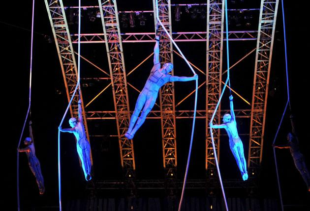 Cirque Du Soleil performing 'Quidam' in the UK earlier this year: EPA