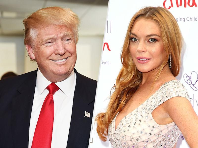 Donald Trump and Lindsay Lohan