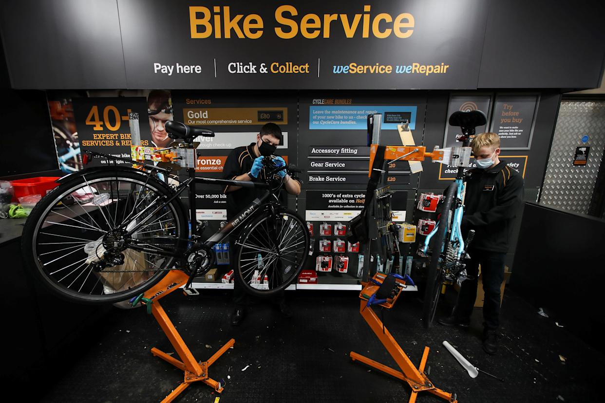 The availability of adult mechanical bikes was particularly low, Halfords said in a trading update. Photo: Molly Darlington/Reuters