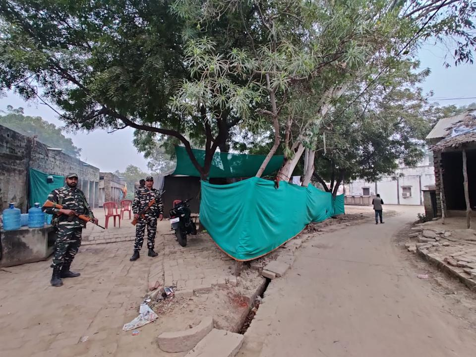 There is one platoon of CRPF officials deployed across Unnao for this case. These men are stationed close to the Unnao rape survivor's home, who now lives in Delhi.
