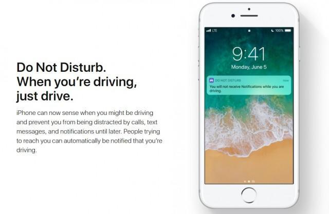 Apple's Do Not Disturb feature has evolved since the company first introduced it in 2012 such that it's sensitive to when users are on the road.