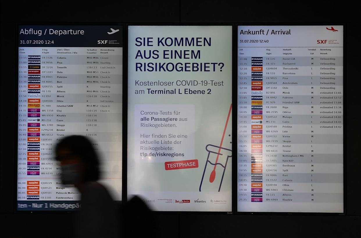 GERMANY-HEALTH-VIRUS-TRAVEL-AIRPORT-TEST