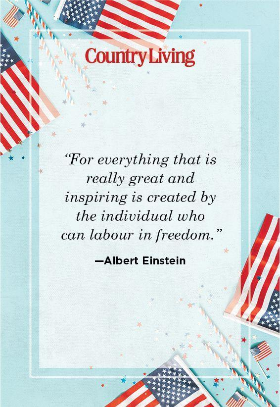 """<p>""""For everything that is really great and inspiring is created by the individual who can labour in freedom.""""</p>"""