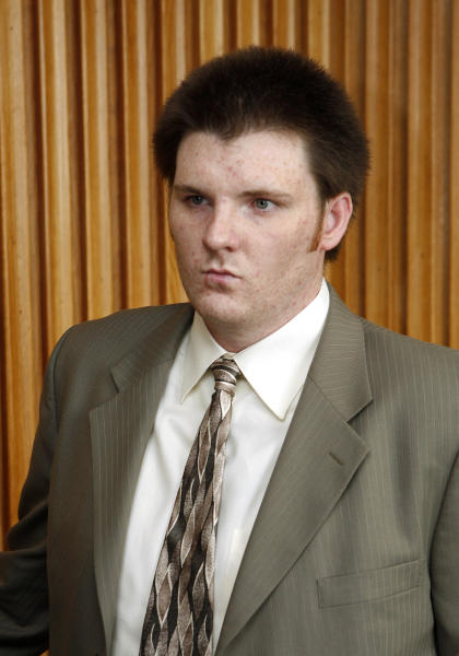 "FILE - In this Thursday, July 26, 2007 file photo, Garrett Reid, son of Philadelphia Eagles head coach Andy Reid, leaves a courtroom in Norristown, Pa., after pleading guilty to drug and traffic offenses. Garrett Reid was found dead Sunday, Aug. 5, 2012, in his room at training camp at Lehigh University. Police say ""there were no suspicious activities."" (AP Photo/Mark Stehle, File)"
