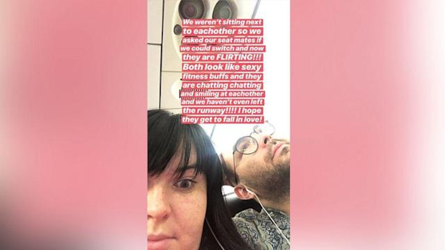 Woman who switched seats with another passenger tweets play-by-play of potential love connection (ABC News)