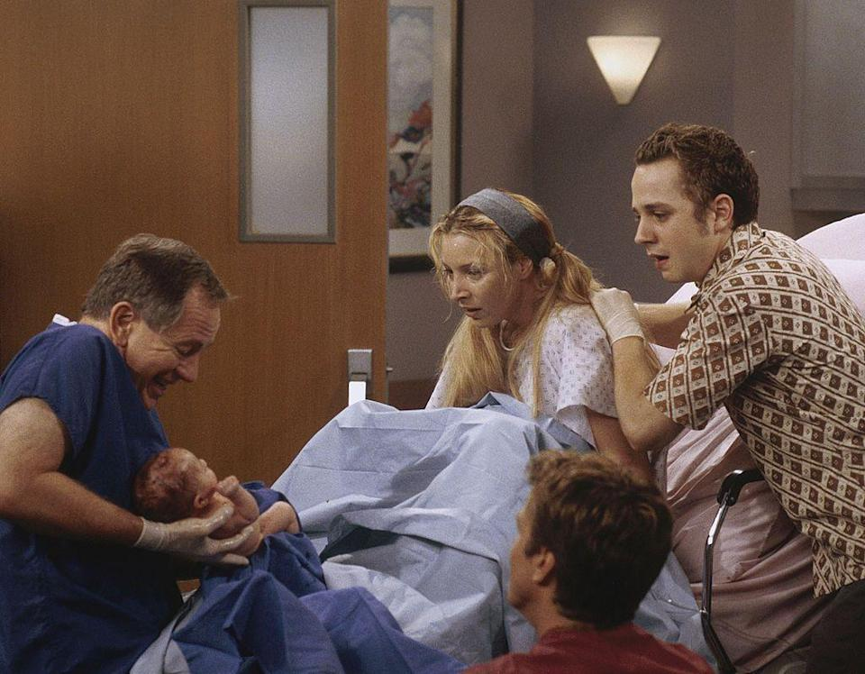 <p><strong>In Friends:</strong></p><p>After meeting and discovering they are half brothers, Frank Jr later asks Phoebe to be a surrogate for him and his wife Alice, which she does and births three triplets for him.</p>
