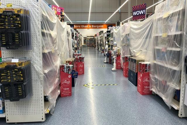 Shopping aisles cordoned off in Wales