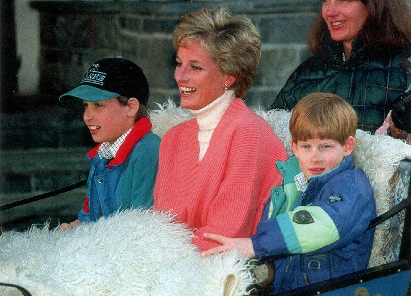 Diana Princess Of Wales Prince William Harry