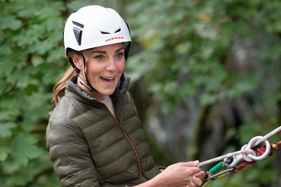 The Duchess of Cambridge during a visit to the RAF Air Cadets' Windermere Adventure Training Centre in Cumbria (AP)