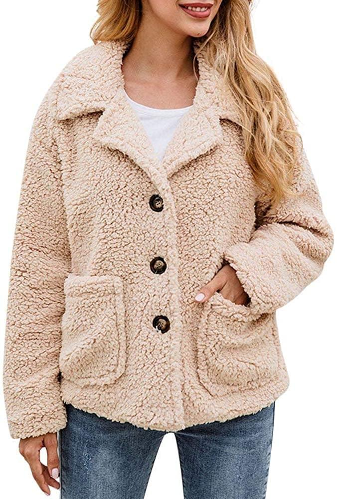 <p>This <span>Echoine Fleece Coat Jacket</span> ($31) comes in several colors.</p>