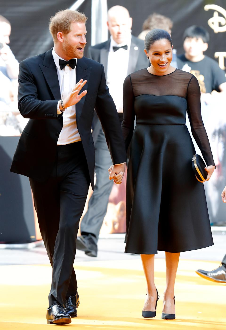The couple held hands at the July premiere of <em>The Lion King</em>. (Photo: Getty)