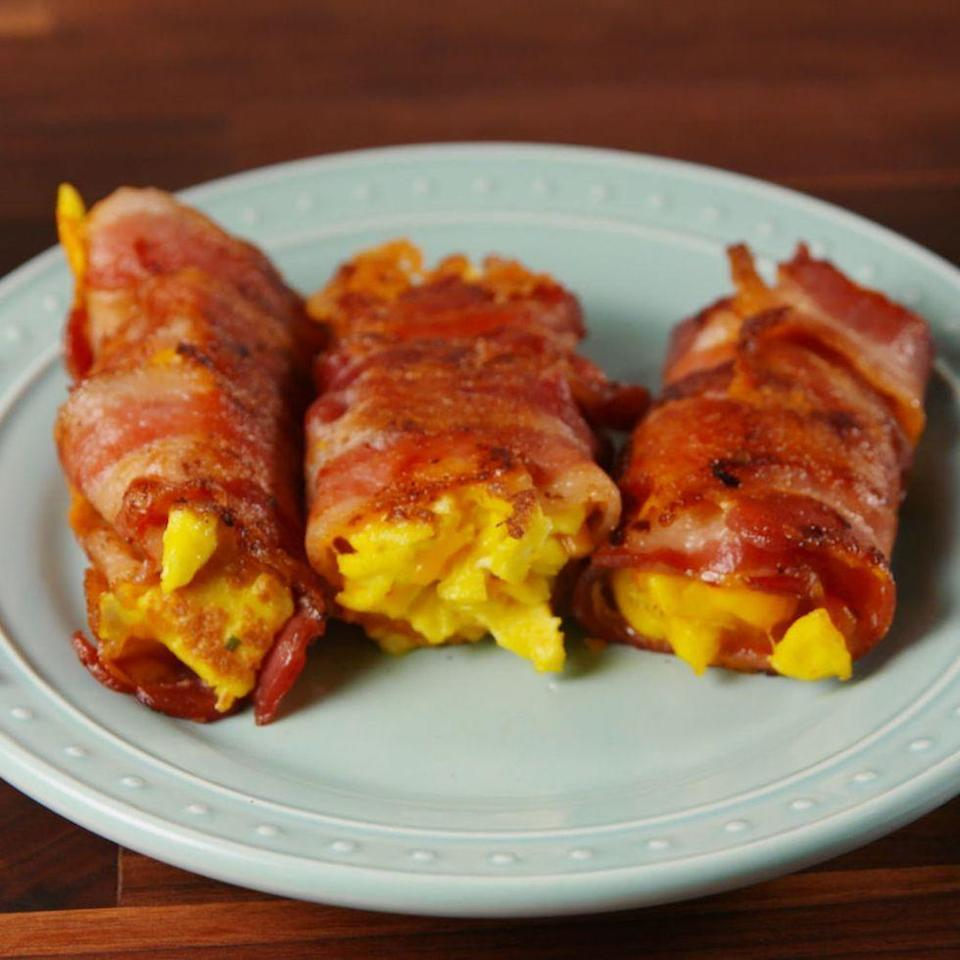 "<p>A new way to do low carb breakfast (and lunch, and dinner).</p><p>Get the <a href=""https://www.delish.com/uk/cooking/recipes/a29531217/bacon-egg-and-cheese-roll-ups-recipe/"" rel=""nofollow noopener"" target=""_blank"" data-ylk=""slk:Bacon, Egg, and Cheese Roll-Ups"" class=""link rapid-noclick-resp"">Bacon, Egg, and Cheese Roll-Ups</a> recipe.</p>"